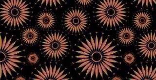 Seamless Flower Pattern Free Vector