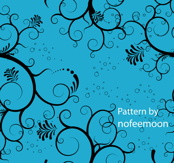 Seamless Pattern Blue Floral