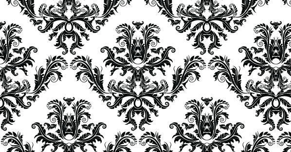 Free damask seamless pattern