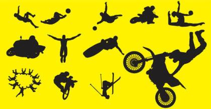 Sports People Silhouette