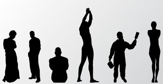 People silhouette free vector
