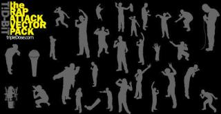 People silhouettes free vectors