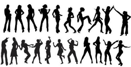 Free Vector Dancers Silhouettes