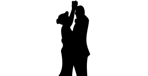 Dancing Couples Free Vector Silhouettes