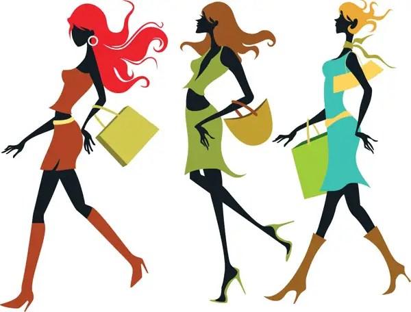 Shopping Girls Vector