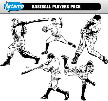 Baseball Players Vectors