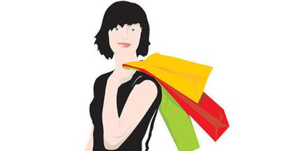 Shopping Girl Vector Free