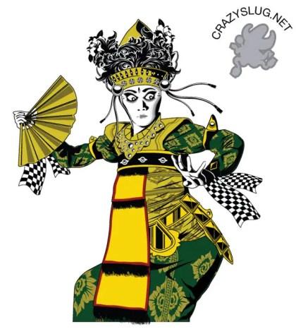 Balinese Dancer Vector