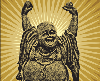 Chinese Happy Buddha Vector