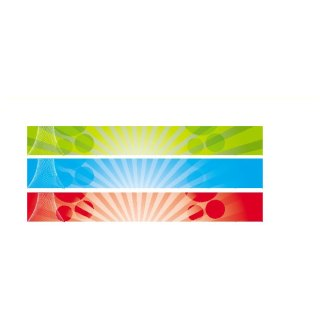 Abstract Banners 728X90 Free Vector