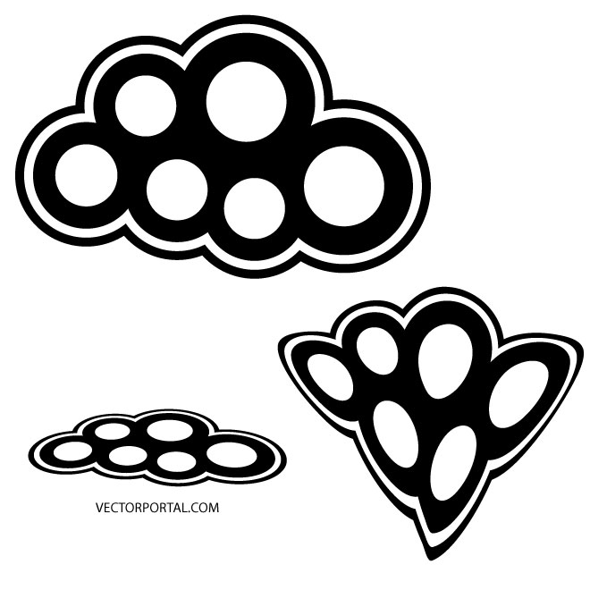 Abstract Black White Circles Free Vector