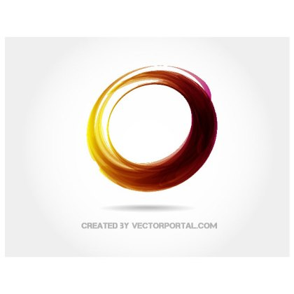 Abstract Circle Graphics Free Vector