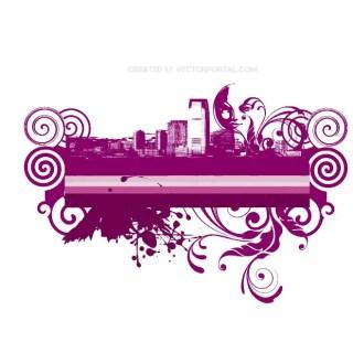 Abstract City Skyline Free Vector