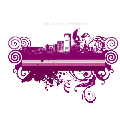 Abstract City Skyline Free Vector