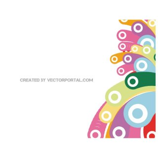 Abstract Colorful Bubbles Background Vp. Free Vector
