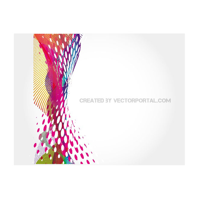 Abstract Colorful Waves Free Vector