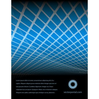 Abstract Free Blue Tiles Free Vector