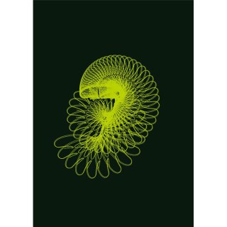 Abstract Green-Black Background Free Vector