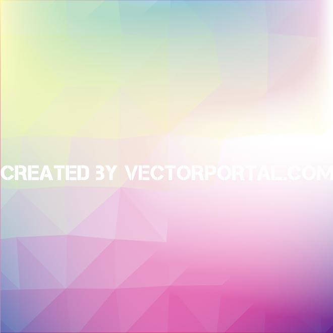 Abstract Polygonal Colorful Pattern Free Vector