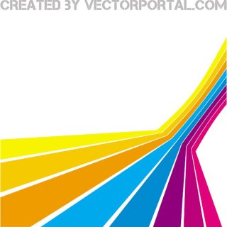 Abstract Stripes Perspective Free Vector