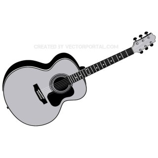 Acoustic Guitar Free Vector