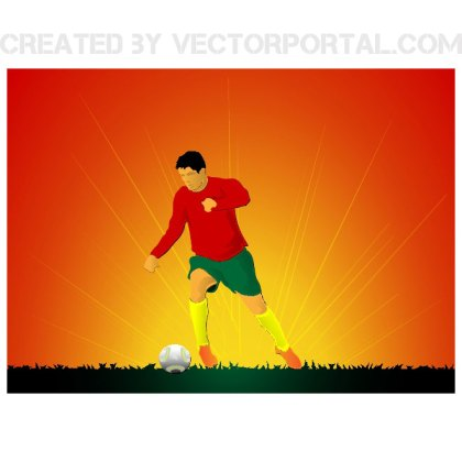 Africa World Cup Theme Background Free Vector