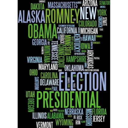 American Election 2012 Word Cloud Free Vector