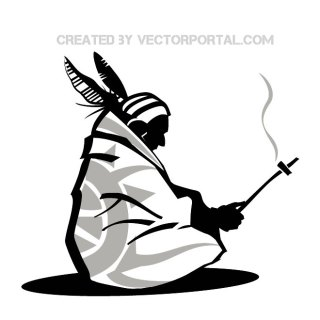 American Indian Illustration Free Vector