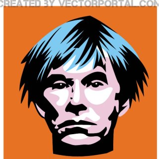 Andy Warhol Portrait Free Vector