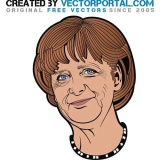 Angela Merkel Portrait Free Vector