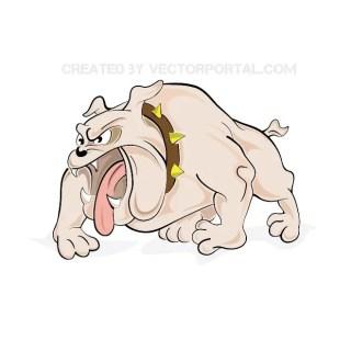 Angry Bulldog Free Vector