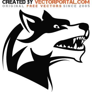 Angry Dog Art Free Vector