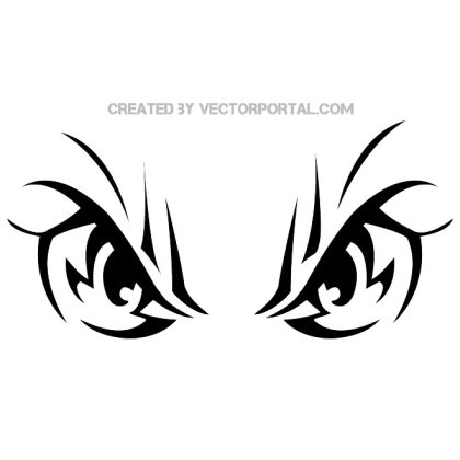 Angry Eyes Image Free Vector