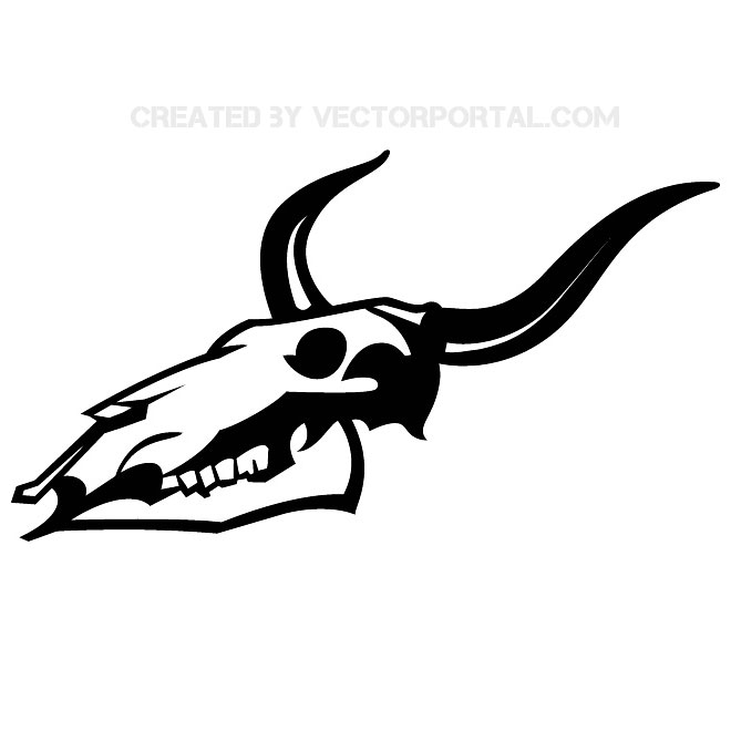 Animal Skull Graphics Free Vector