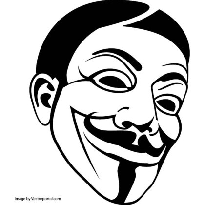 Anonymous Mask Free Vector
