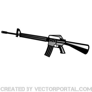 Automatic Rifle Graphics Free Vector