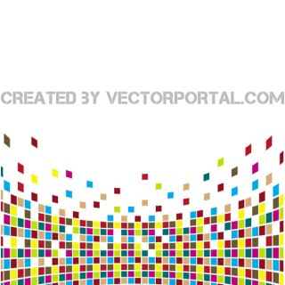 Background with Colorful Tiles Free Vector