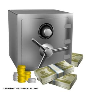 Bank Safe Graphics Free Vector
