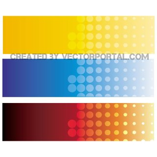 Banners Set 3 Free Vector