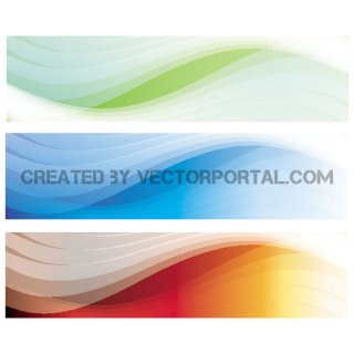 Banners Set 4 Free Vector