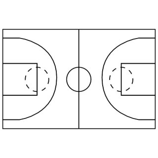 Basketball Court Image Free Vector