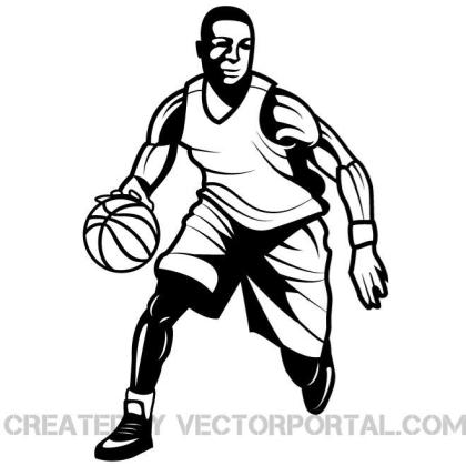 Basketball Player Graphics Free Vector
