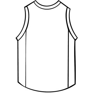 Basketball Shirt Outline Free Vector