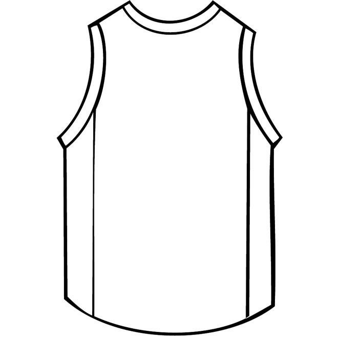 c61b8a70378a Basketball Shirt Outline Free Vector