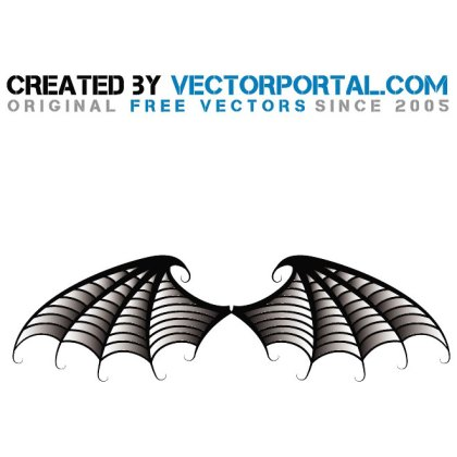 Bat Wings Illustration Free Vector