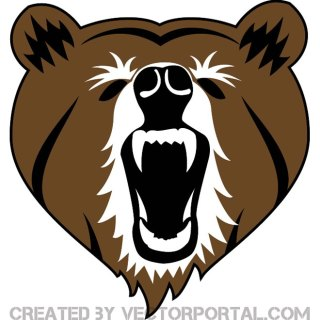 Bear Head Image Free Vector