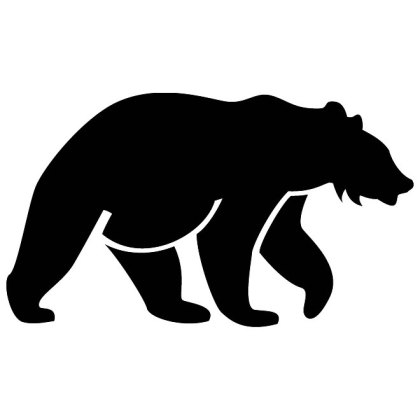 Bear Silhouette Image Free Vector