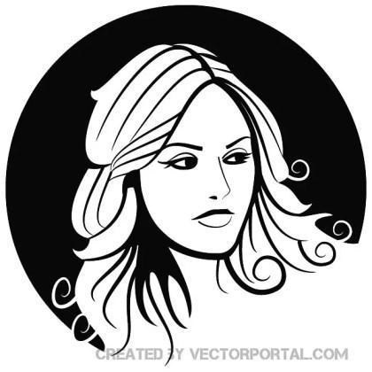 Beautiful Girl Portrait Free Vector