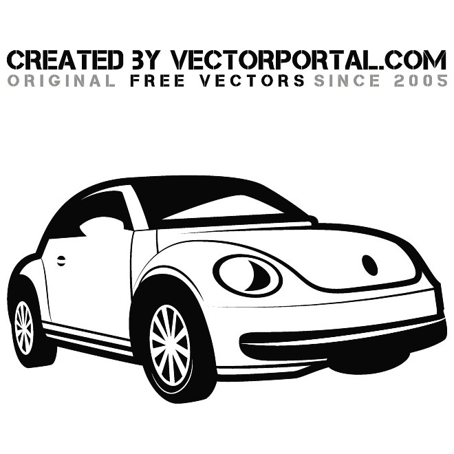 Beetle Car Free Vector