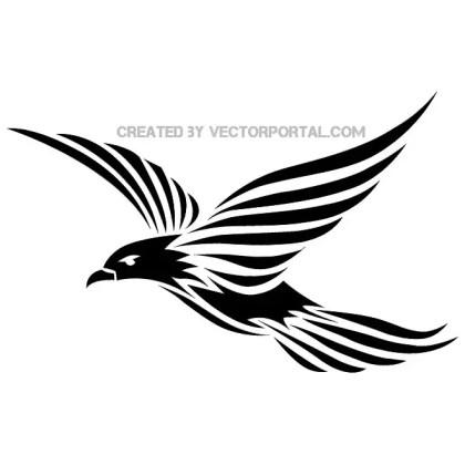 Bird Tribal Style Free Vector